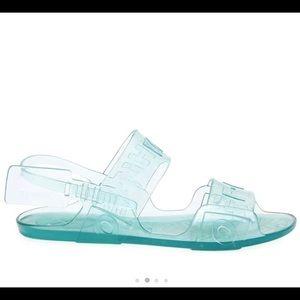 OFF-WHITE zip tie jelly sandals . Summer 19'